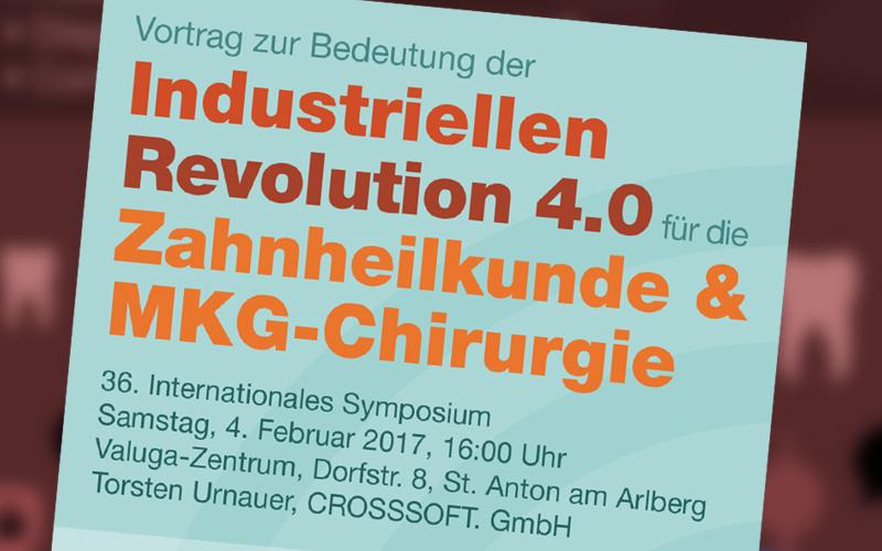 Vortrag: Industrielle Revolution 4.0 – Bedeutung für die Zahnheilkunde & MKG-Chirurgie