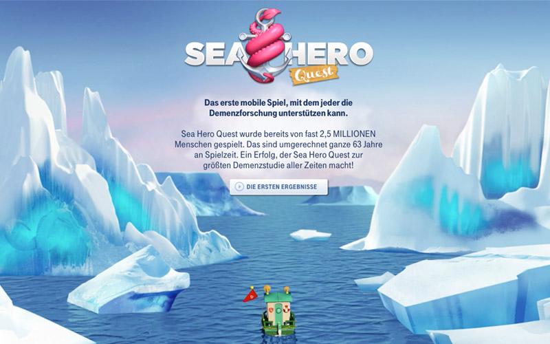 Mit Sea Hero Quest für die Demenz-Forschung