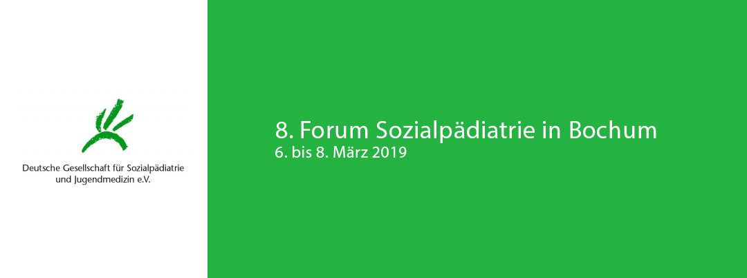 8. Forum Sozialpädiatrie in Bochum